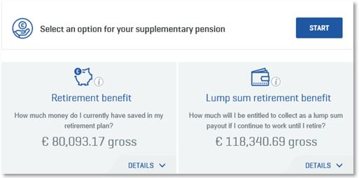 Select an option for your supplementary pension on My Global Benefits
